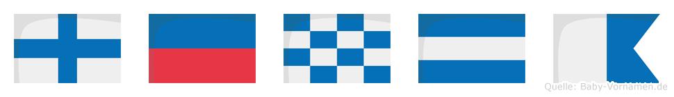 Xenja im Flaggenalphabet