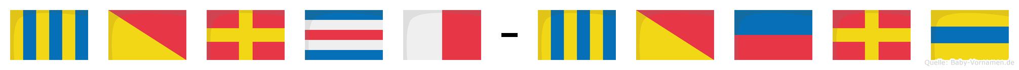 Gorch-Görd im Flaggenalphabet