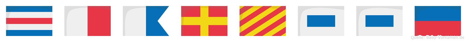 Charysse im Flaggenalphabet