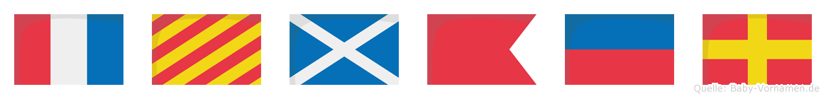 Tymber im Flaggenalphabet