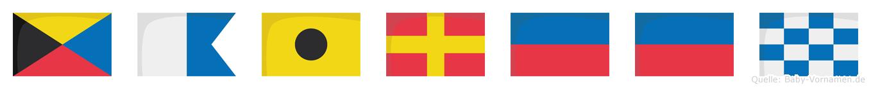 Zaireen im Flaggenalphabet