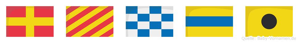 Ryndi im Flaggenalphabet