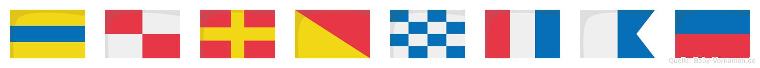 Durontae im Flaggenalphabet