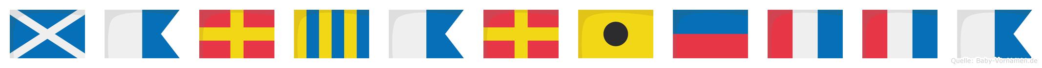 Margarietta im Flaggenalphabet