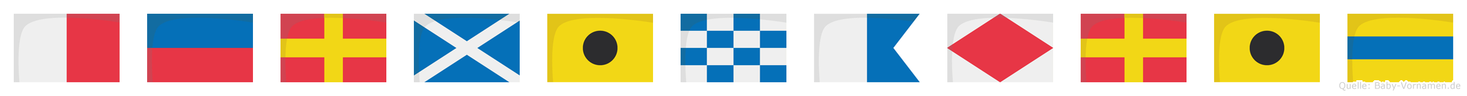 Herminafrid im Flaggenalphabet