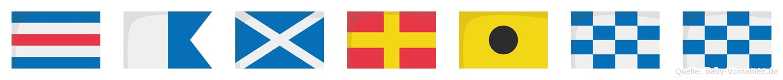 Camrinn im Flaggenalphabet