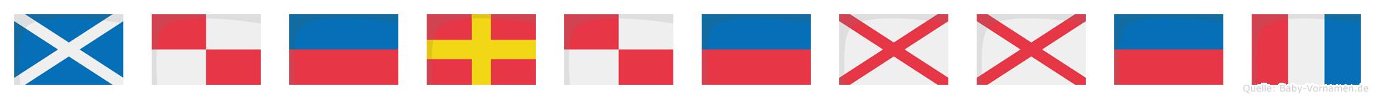 Mürüvvet im Flaggenalphabet