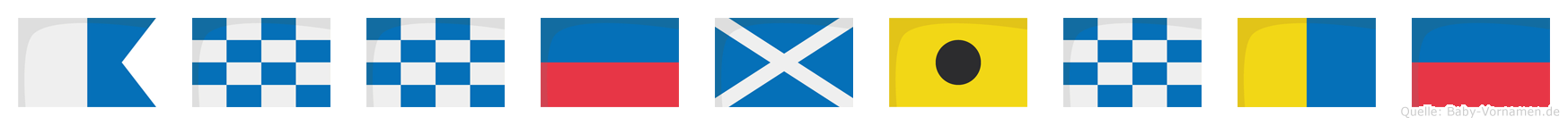 Anneminke im Flaggenalphabet