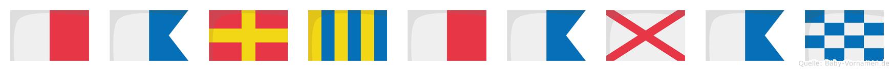 Harghavan im Flaggenalphabet