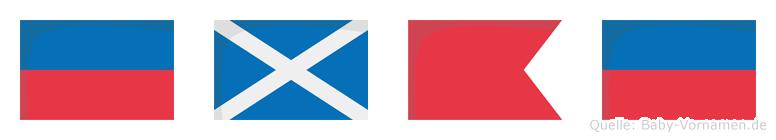 Embe im Flaggenalphabet