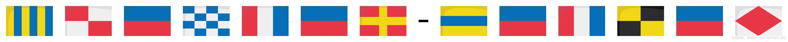 Günter-Detlef im Flaggenalphabet