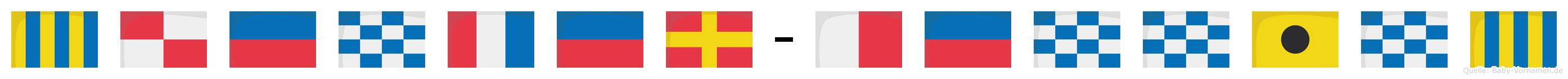 Günter-Henning im Flaggenalphabet