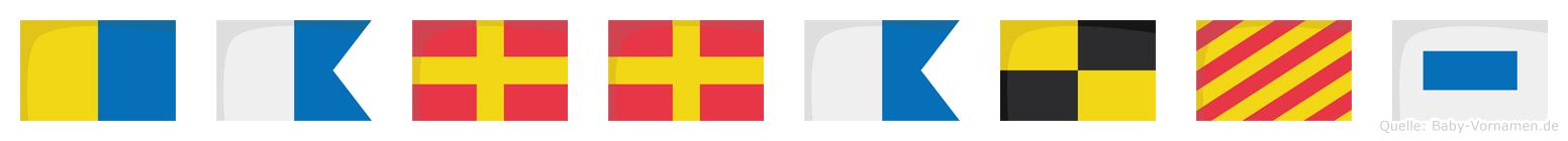 Karralys im Flaggenalphabet