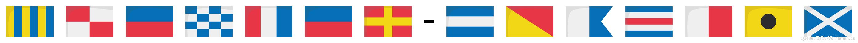 Günter-Joachim im Flaggenalphabet