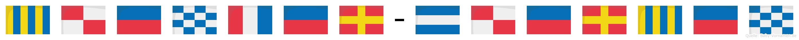 Günter-Jürgen im Flaggenalphabet