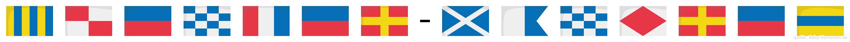 Günter-Manfred im Flaggenalphabet