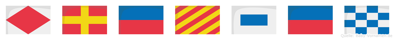 Freysen im Flaggenalphabet