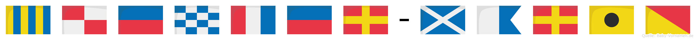 Günter-Mario im Flaggenalphabet
