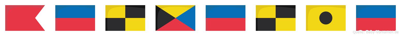 Belzelie im Flaggenalphabet