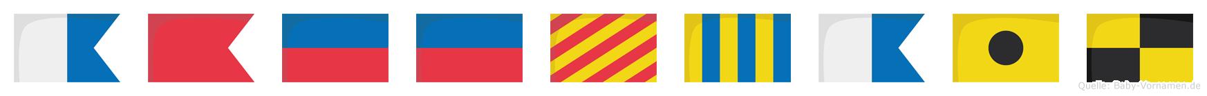 Abeeygail im Flaggenalphabet