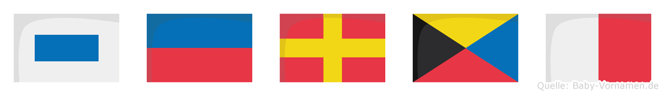 Serzh im Flaggenalphabet