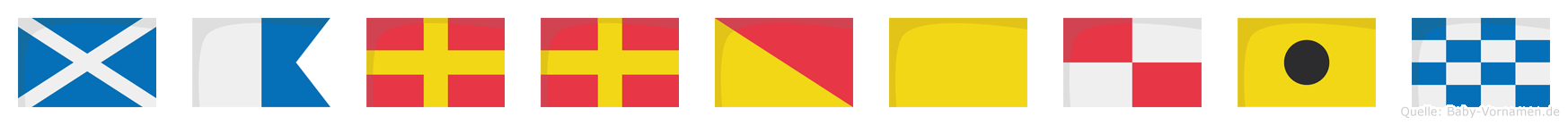 Marroquin im Flaggenalphabet