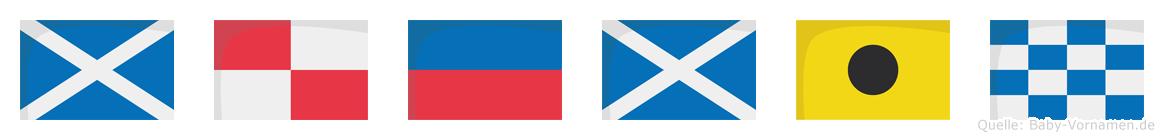 Mümin im Flaggenalphabet