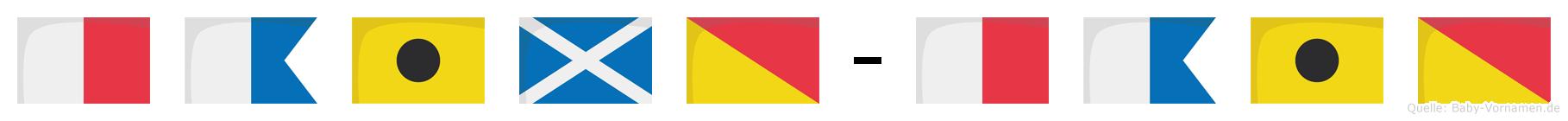 Haimo-Haio im Flaggenalphabet