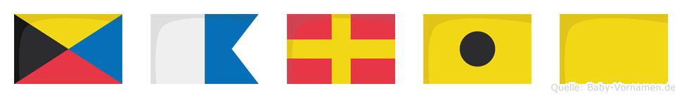 Zariq im Flaggenalphabet