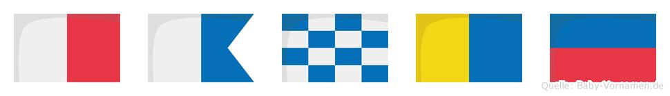 Hanke im Flaggenalphabet