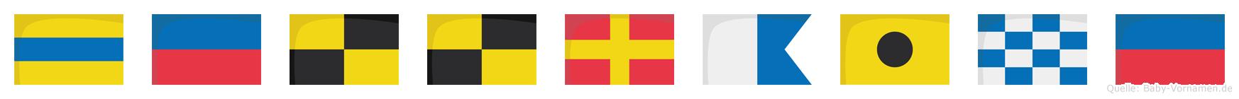 Dellraine im Flaggenalphabet