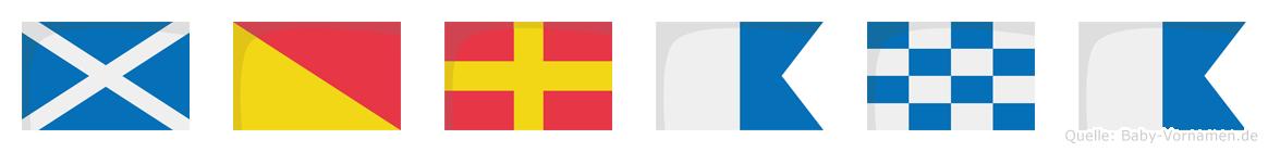 Morana im Flaggenalphabet