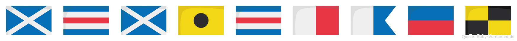 Mcmichael im Flaggenalphabet
