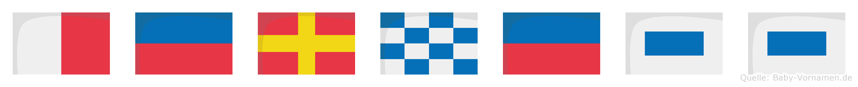 Herness im Flaggenalphabet