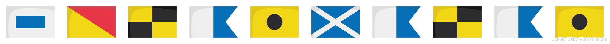 Solaimalai im Flaggenalphabet
