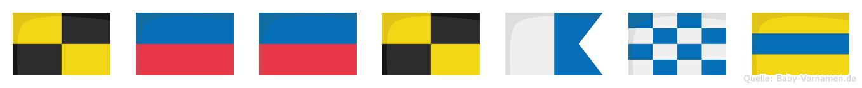 Leeland im Flaggenalphabet
