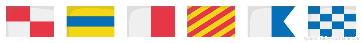 Udhyan im Flaggenalphabet