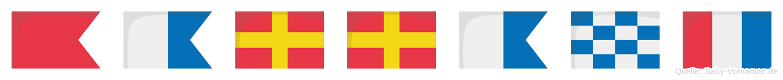 Barrant im Flaggenalphabet