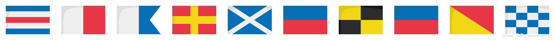 Charmeleon im Flaggenalphabet
