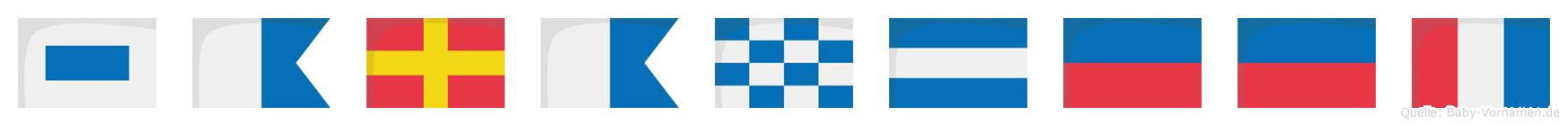 Saranjeet im Flaggenalphabet