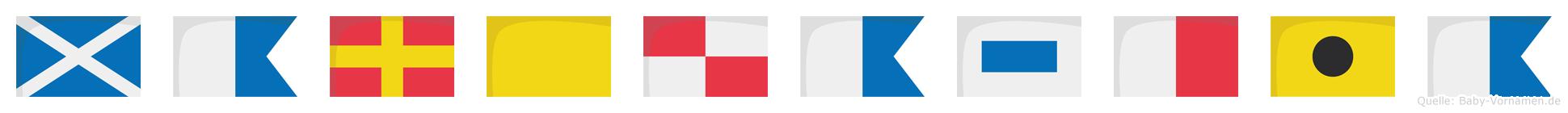Marquashia im Flaggenalphabet
