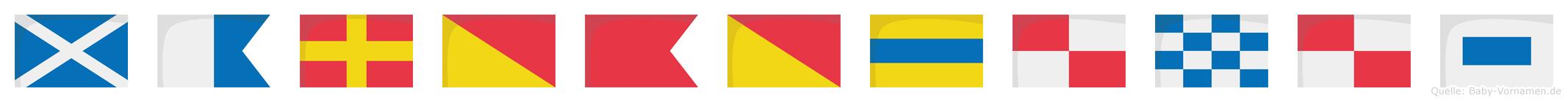 Marobodunus im Flaggenalphabet