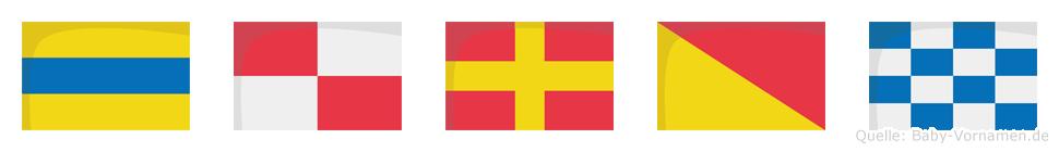 Duron im Flaggenalphabet