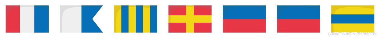 Tagreed im Flaggenalphabet