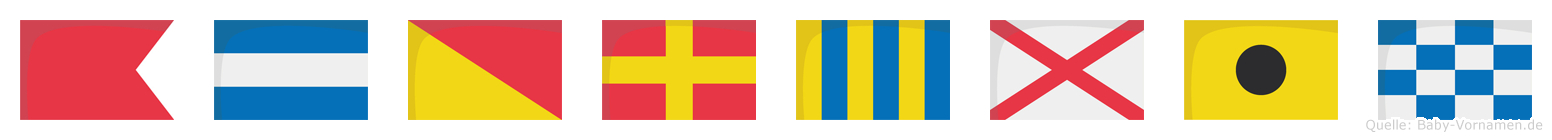Bjorgvin im Flaggenalphabet