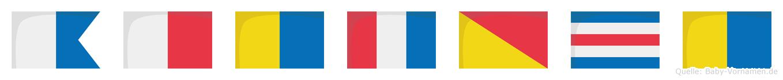 Ahktock im Flaggenalphabet
