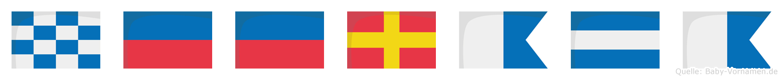Neeraja im Flaggenalphabet