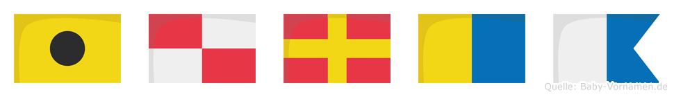 Iurka im Flaggenalphabet