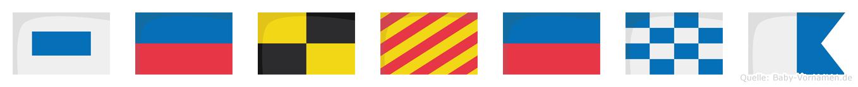 Selyena im Flaggenalphabet