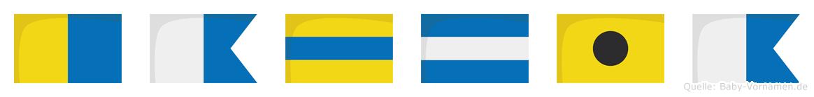 Kadjia im Flaggenalphabet